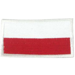 Poland, Warsaw, Flag, Country, Patch, Embroidered Patch, Merit Badge, Iron On, Iron-On, Crest, Girl Scouts