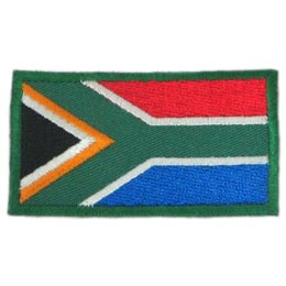 South, Africa, South Africa, Cape Town, Flag, Patch, Embroidered Patch, Merit Badge, Badge, Emblem, Iron On, Iron-On, Crest, Lapel Pin, Insignia, Girl Scouts, Boy Scouts, Girl Guides