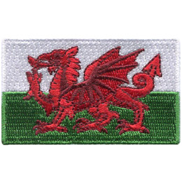 The Wales flag consists of a red dragon passant on a green and white field.