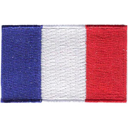 The flag of France is a tricolour flag featuring three vertical bands coloured blue, white, and red.