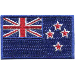 New Zealand\'s national flag consisting of a blue field with the Union Jack in the top left and four stars, forming the Southern Cross constellation, at the fly end.