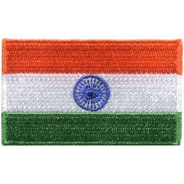 The National Flag of India is a horizontal rectangular tricolour of India saffron, white and India green; with the Ashoka Chakra, a 24-spoke wheel, in navy blue at its center.