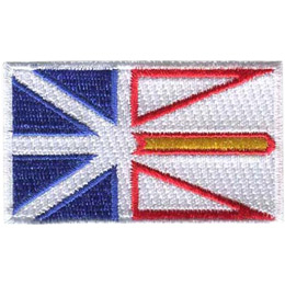 The flag of Newfoundland and Labrador is a series of triangles in colours of blue, red, white, and yellow.