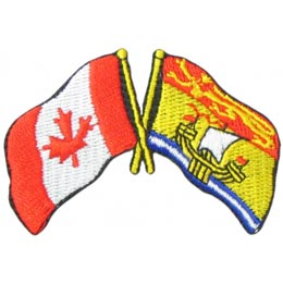 Canada, New Brunswick, Friendship, Flag, Country, Province, Patch, Embroidered Patch, Merit Badge, Iron On, Iron-On, Crest, Girl Scouts