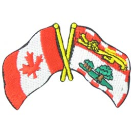 Canada, Prince Edward Island, Friendship, Flag, Country, Province, Patch, Embroidered Patch, Merit Badge, Iron On, Iron-On, Crest, Girl Scouts