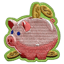 A fat piggy has a slot in the top of his back being filled by coins.