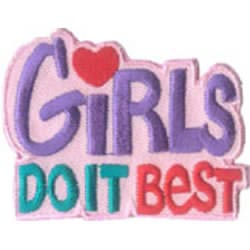 Girl, Girls, Best, Heart, Patch, Embroidered Patch, Merit Badge, Badge, Emblem, Iron On, Iron-On, Crest, Lapel Pin, Insignia, Girl Scouts, Boy Scouts, Girl Guides