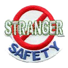 Stranger Safety, Police, Safe, Patch, Embroidered Patch, Merit Badge, Crest, Girl Scouts, Boy Scouts, Girl Guides