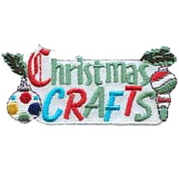 Christmas Crafts, Ornament, Christmas, Decoration, Holly, Ball, Patch, Embroidered Patch, Merit Badge, Crest, Girl Scouts, Boy Scouts, Girl Guides
