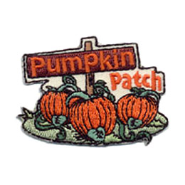Pumpkin Patch, Pumpkin, Halloween, Patch, Embroidered Patch, Merit Badge, Crest, Girl Scouts, Boy Scouts, Girl Guides