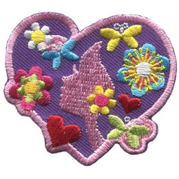 Unique, Me, Heart, Girl, Flower, Butterfly, Patch, Embroidered Patch, Merit Badge, Badge, Emblem, Iron On, Iron-On, Crest, Lapel Pin, Insignia, Girl Scouts, Boy Scouts, Girl Guides