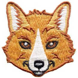 The head of a fox looking right at you.