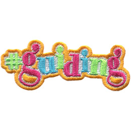 This patch is comprised of just text to form '#guiding'.