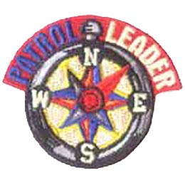 Patrol Leader, Leader, Compass, Patch, Embroidered Patch, Merit Badge, Crest, Girl Scouts, Boy Scouts, Girl Guides