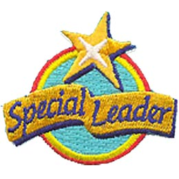 Special, Leader, Star, Award, Patch, Embroidered Patch, Merit Badge, Crest, Girl Scouts, Boy Scouts, Girl Guides