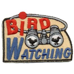 Bird Watching, Binoculars, Patch, Embroidered Patch, Merit Badge, Crest, Girl Scouts, Boy Scouts, Girl Guides