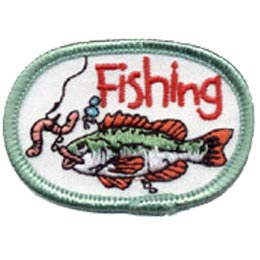 Fishing, Worm, Hook, Water, Sport, Crest, Patch, Merit Badge