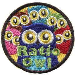 One adult owl stares straight ahead as five kid owls surround her. The text reads 'Ratio Owl.'