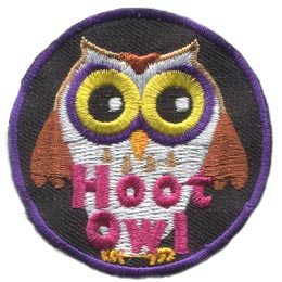 Hoot, Owl, Set, Leader, Who, Patch, Embroidered Patch, Merit Badge, Badge, Emblem, Iron On, Iron-On, Crest, Lapel Pin, Insignia, Girl Scouts, Boy Scouts, Girl Guides