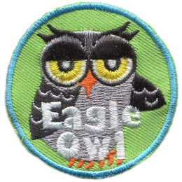 Eagle, Owl, Set, Leader, Who, Hoot, Bird, Patch, Embroidered Patch, Merit Badge, Badge, Emblem, Iron-On, Crest, Lapel Pin, Insignia, Girl Scouts, Boy Scouts, Girl Guides