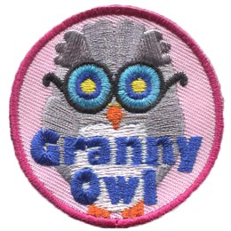 Granny, Owl, Set, Leader, Who, Hoot, Patch, Embroidered Patch, Merit Badge, Badge, Emblem, Iron-On, Iron On, Crest, Lapel Pin, Insignia, Girl Scouts, Boy Scouts, Girl Guides