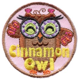 Cinnamon, Owl, Set, Leader, Who, Hoot, Patch, Embroidered Patch, Merit Badge, Badge, Emblem, Iron-On, Iron On, Crest, Lapel Pin, Insignia, Girl Scouts, Boy Scouts, Girl Guides