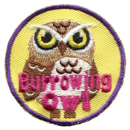 Burrowing, Dig, Ground, Owl, Set, Leader, Who, Hoot, Bird, Patch, Embroidered Patch, Merit Badge, Badge, Emblem, Iron-On, Crest, Lapel Pin, Insignia, Girl Scouts, Boy Scouts, Girl Guides