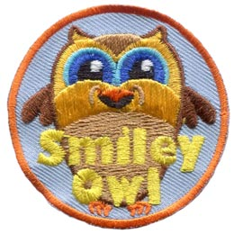 Smiley, Owl, Set, Leader, Who, Hoot, Patch, Embroidered Patch, Merit Badge, Badge, Emblem, Iron-On, Iron On, Crest, Lapel Pin, Insignia, Girl Scouts, Boy Scouts, Girl Guides