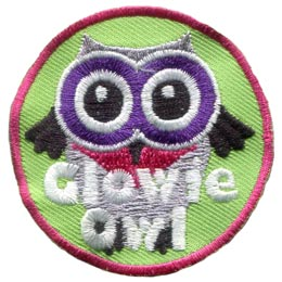 Glowie, Glow, Dark, Owl, Set, Leader, Who, Hoot, Patch, Embroidered Patch, Merit Badge, Badge, Emblem, Iron-On, Iron On, Crest, Lapel Pin, Insignia, Girl Scouts, Boy Scouts, Girl Guides