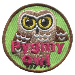 Pygmy, Short, Tribe, Owl, Leader, Who, Hoot, Patch, Embroidered Patch, Merit Badge, Badge, Emblem, Iron-On, Iron On, Crest, Lapel Pin, Insignia, Girl Scouts, Boy Scouts, Girl Guides