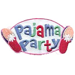 Pajama Party, PJ Party, Party, Slippers, Merit Badge, Crest, Patch, Girl Guides, Girl Scouts, Boy Scouts
