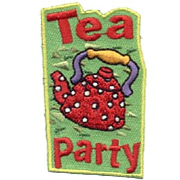 Tea Party, Tea, Tea Pot, Coffee, Merit Badge, Patch, Crest, Girl Scouts, Girl Guides