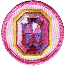 Spark, Ruby, Circle, Patrol, Patch, Embroidered Patch, Merit Badge, Badge, Emblem, Iron On, Iron-On, Crest, Lapel Pin, Insignia, Girl Scouts, Boy Scouts, Girl Guides