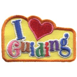 Love, Guiding, Heart, Community, Cookies, Girls, Canadian,  Patch, Embroidered Patch, Merit Badge, Badge, Emblem, Iron On, Iron-On, Crest, Lapel Pin, Insignia, Girl Scouts, Boy Scouts, Girl Guides