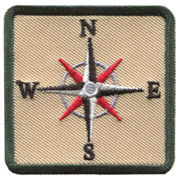 This square patch displays an eight point compass rose showcasing the four cardinal directions and the four intercardinal directions.