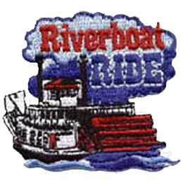 Riverboat Ride, Paddle Wheeler, Paddle, Boat, Patch, Embroidered Patch, Merit Badge, Crest, Girl Scouts, Boy Scouts, Girl Guides