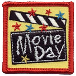 Movie, Star, VHS, DVD, Theatre, Theater, Show, Film, Patch, Embroidered Patch, Merit Badge, Crest, Girl Scouts, Boy Scouts, Girl Guides