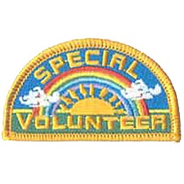Special, Volunteer, Patch, Embroidered Patch, Merit Badge, Crest, Girl Scouts, Boy Scouts, Girl Guides
