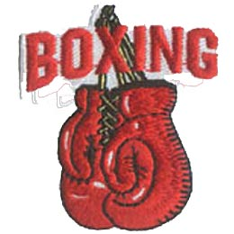 Boxing, Gloves, Sports, Fitness, Ring, Ropes, Patch, Crest, Merit Badge, Girl Scouts, Boy Scouts, Girl Guides