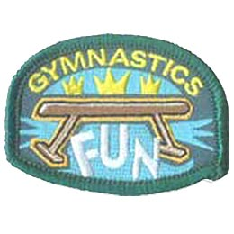 Gym, Gymnastic, Sports, Patch, Embroidered Patch, Merit Badge, Badge, Emblem, Iron On, Iron-On, Crest, Lapel Pin, Insignia, Girl Scouts, Boy Scouts, G