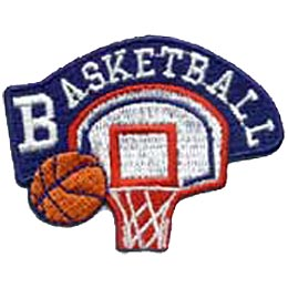 Basketball, Ball, Net, Sport, Fitness, Crest, Patch, Merit Badge