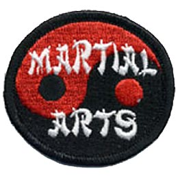 Martial Arts, Karate, Judo, Kung Fu, Tae Kwon Do, Patch, Embroidered Patch, Merit Badge, Crest, Girl Scouts, Boy Scouts, Girl Guides
