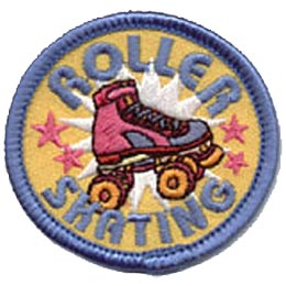 Roller Skating, Skate, Stars, Sports, Merit Badge, Patch, Crest, Boy, Girl, Scouts, Guides