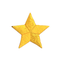 This five pointed, golden coloured star is usually awarded for athletic achievement.