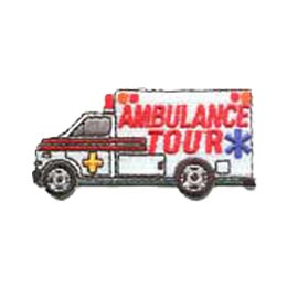 Ambulance Tour, Ambulance, Medical, Medicine, Safety, Siren, Merit Badge, Patch, Crest, Girl, Boy, Scouts, Guides