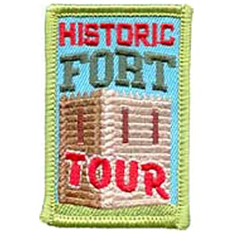 Historic Fort Tour, Pioneer, Heritage, Patch, Embroidered Patch, Merit Badge, Crest, Girl Scouts, Boy Scouts, Girl Guides