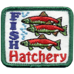 Fish, Hatch, Hatchery, Eggs, Sea Life, Seafood, Sea, Ocean, Patch, Embroidered Patch, Merit Badge, Badge, Emblem, Iron On, Iron-On, Crest, Lapel Pin, Insignia, Girl Scouts, Boy Scouts, Girl Guides