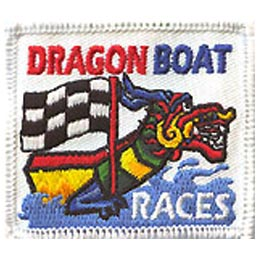 Dragon, Boat, Race, Flag, Water, Patch, Embroidered Patch, Merit Badge, Crest, Girl Scouts, Boy Scouts, Girl Guides