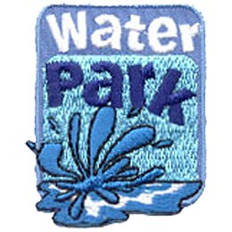 Water Park, Splash, Wave, Fun, Summer, Crest, Patch, Merit Badge