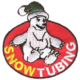 Snow Tubing, Bear, Hat, Winter, Sports, Snow, Patch, Crest, Merit Badge, Girl Scouts, Boy Scouts, Girl Guides